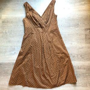 Land's End sleeveless polka dot dress size 4